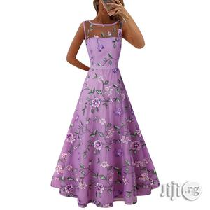 High-end Dress Long Skirt Mesh Embroidery Dress   Clothing for sale in Lagos State, Ikeja