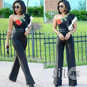 Straight Long Pants Ruffled Shoulder Rose Women Jumpsuit   Clothing for sale in Lagos State, Ikeja
