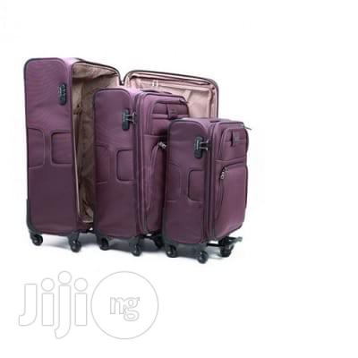 Leaves King 3-Set Luggage Bag - Purple