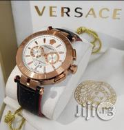 Versace Leather Strap Chrono | Watches for sale in Lagos State, Apapa