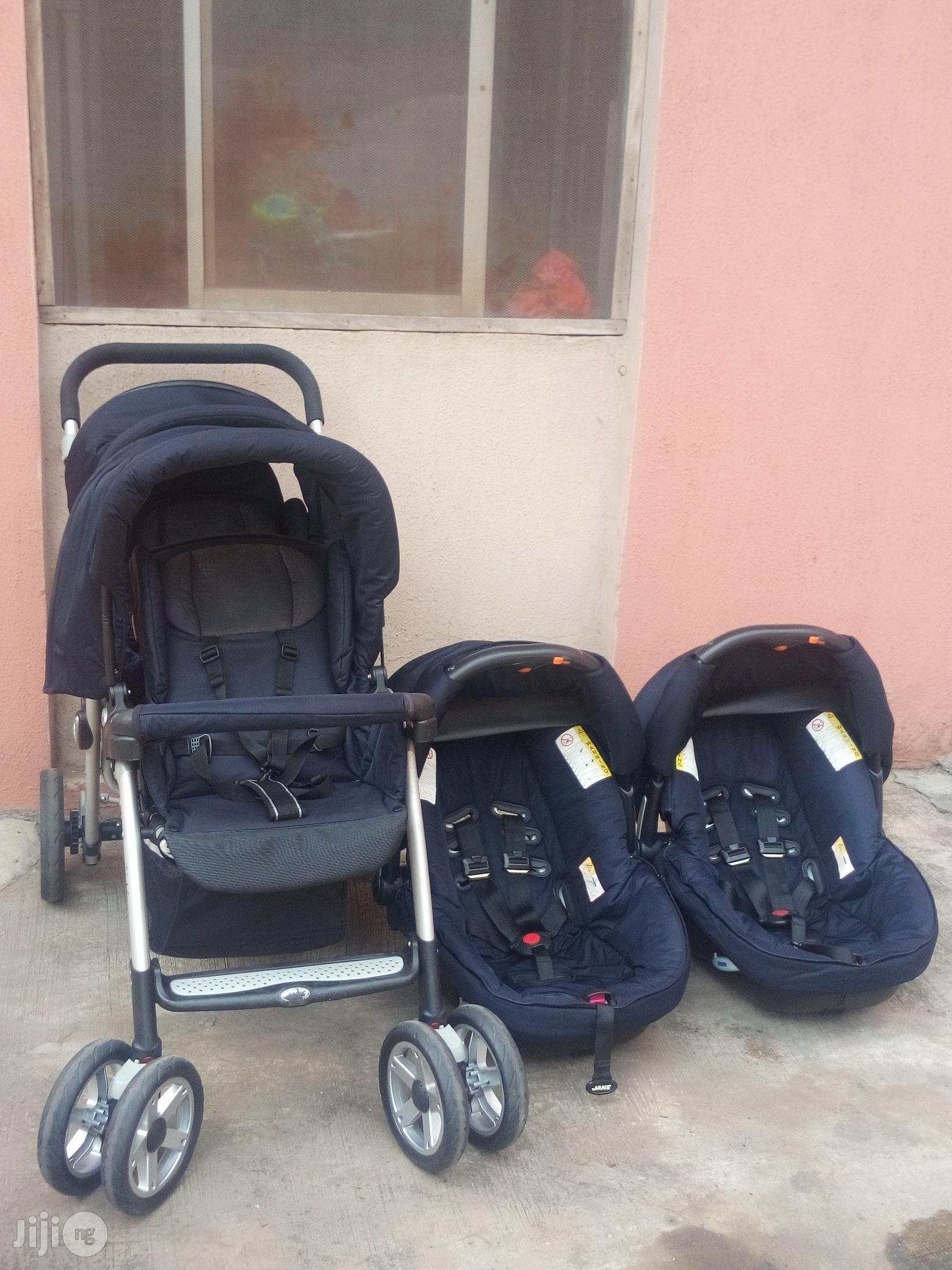 Tokunbo UK Used Jane Twin Stroller With Car Seat From Newborn To Toddler