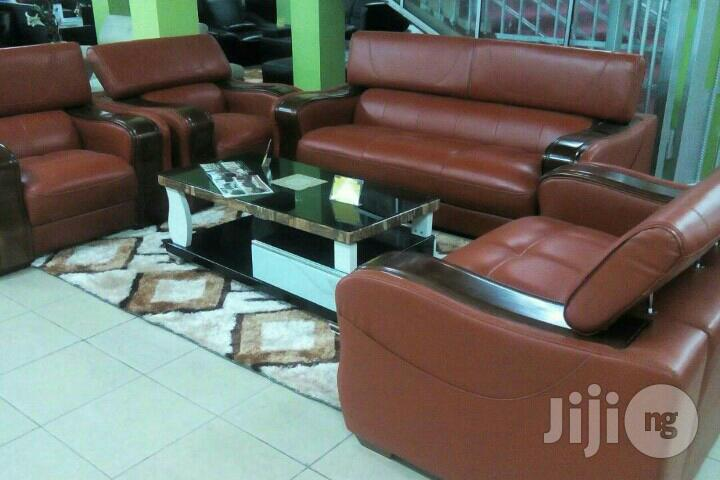 Burnt Orange Leather Sofa