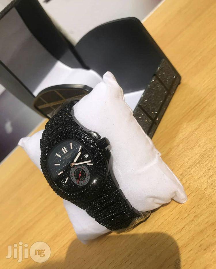 PATEK PHILIPPE Black Diamond Chain Wrist Watch | Watches for sale in Lagos Island (Eko), Lagos State, Nigeria