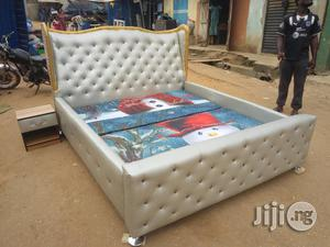King's Size (6X6 Feet) Bed And Bedside Drawer, Padded | Furniture for sale in Lagos State