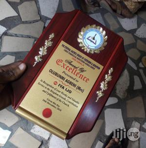 Wooden Plaque For Award   Arts & Crafts for sale in Lagos State, Apapa