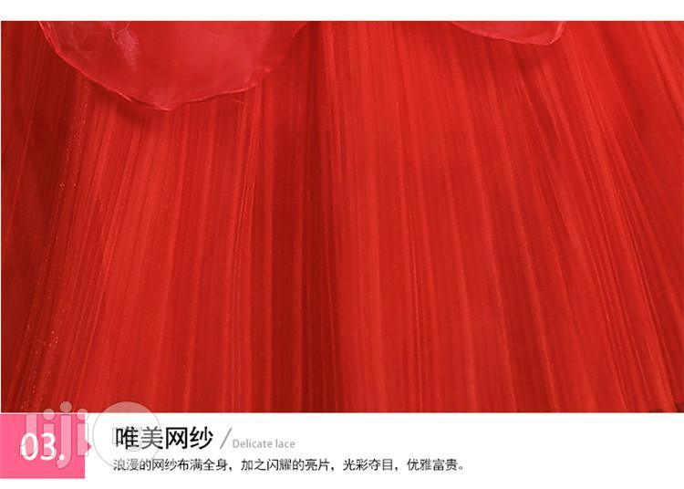 Bride Married Tube Top Women Qi Red Lace Dress | Wedding Wear & Accessories for sale in Ikeja, Lagos State, Nigeria
