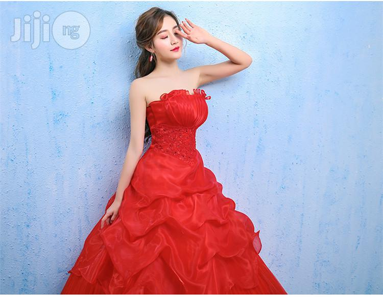 Red Bride Married Tube Top Small & Large Sizes Qi Red Lace Dress