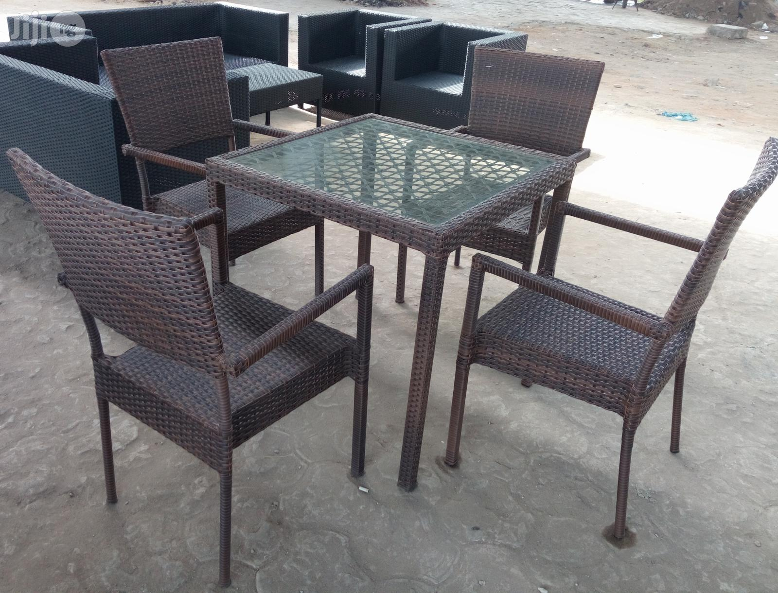 4 Seater Cane Dining Table Brand New Imported