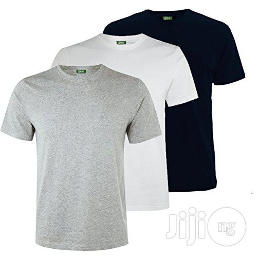 White, Black and Grey Simple Tees