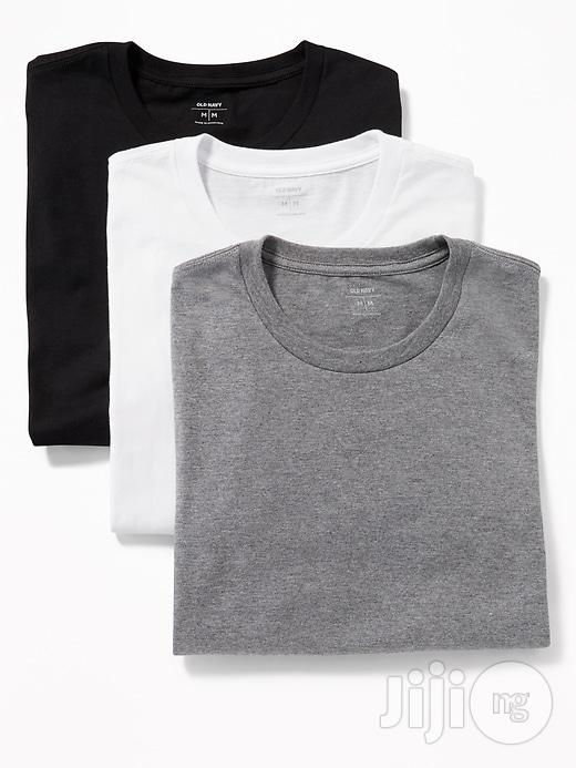 White, Black and Grey Simple Tees | Clothing for sale in Ikeja, Lagos State, Nigeria