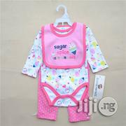 3pcs Girls Romper,Leggings and Bib Set | Children's Clothing for sale in Lagos State, Surulere