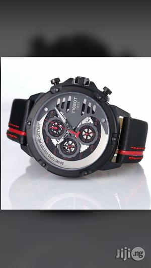 Tissot Chronograph Genuine Leather Strap Quality Watch | Watches for sale in Lagos State, Surulere