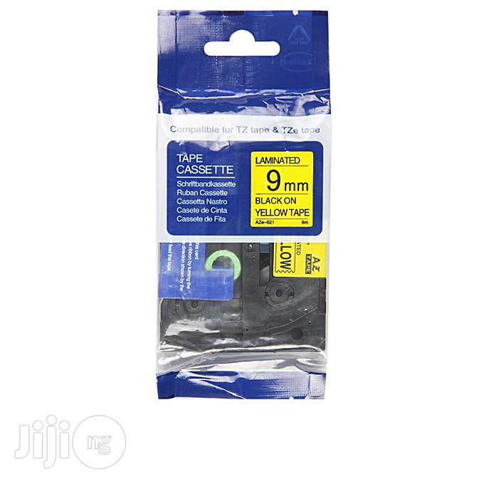 Compatible Brother Tze-221-9mm-black-on-yellow Tape