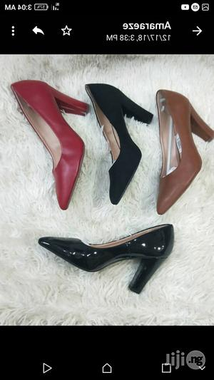 Female Covershoes Pure Leather 3 Inches Block Heel | Shoes for sale in Lagos State, Lagos Island (Eko)