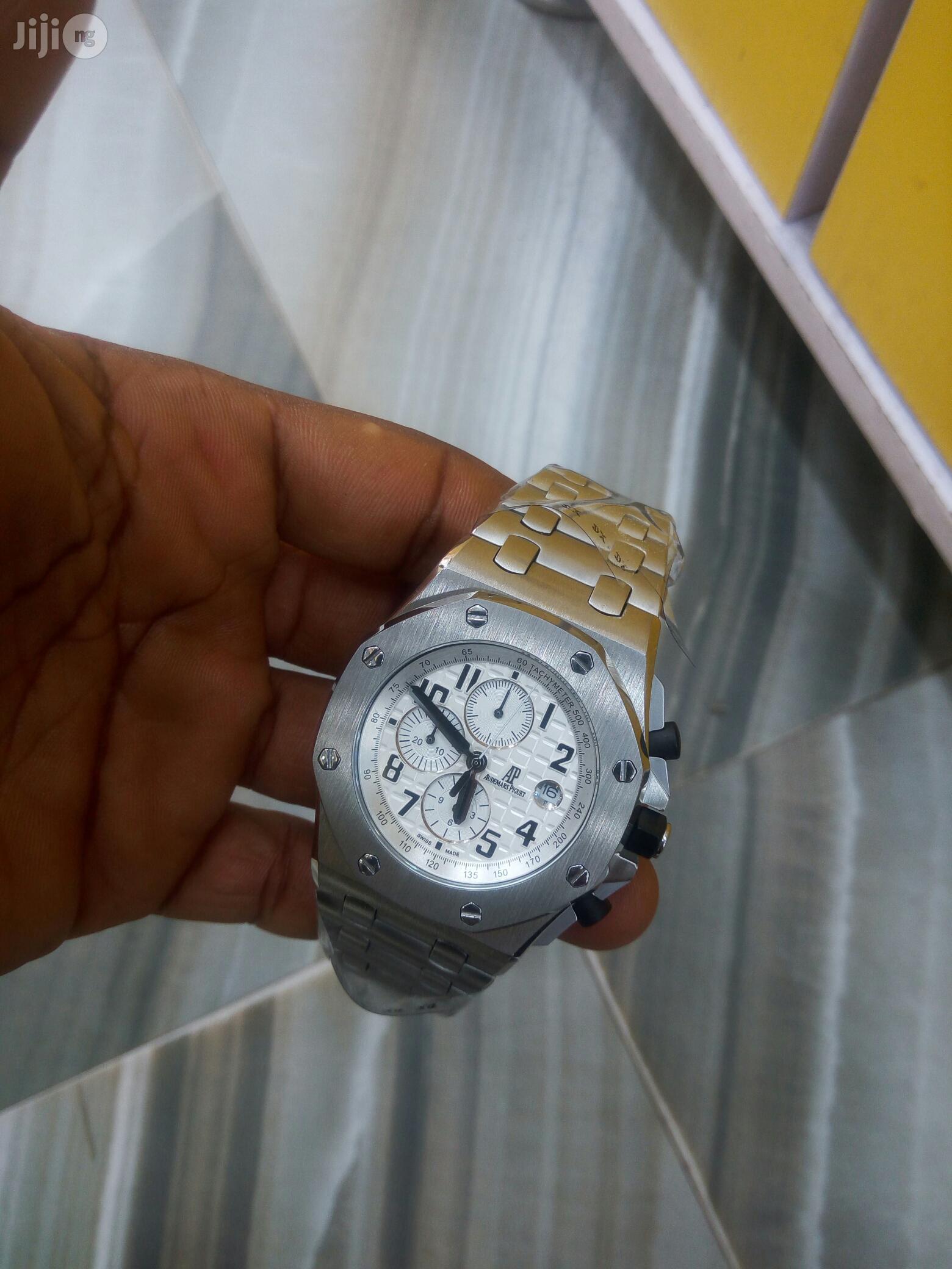 Audemars Piguet Chronograph Silver Chain Watch