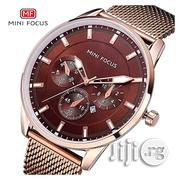 Casual Men S Watches Stainless Steel Mesh Strap Minifocus Watch | Watches for sale in Lagos State, Ikeja