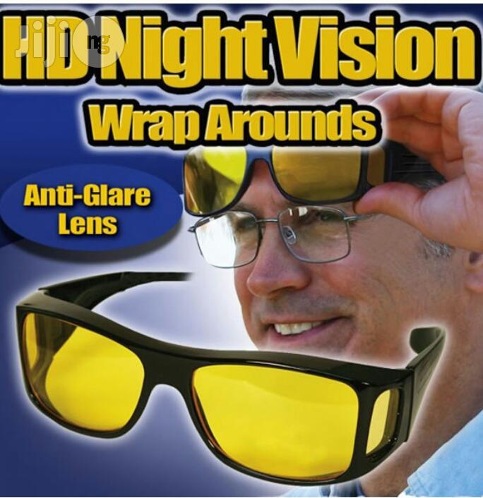 2 Units HD Night Vision Wraparounds UV Glasses.