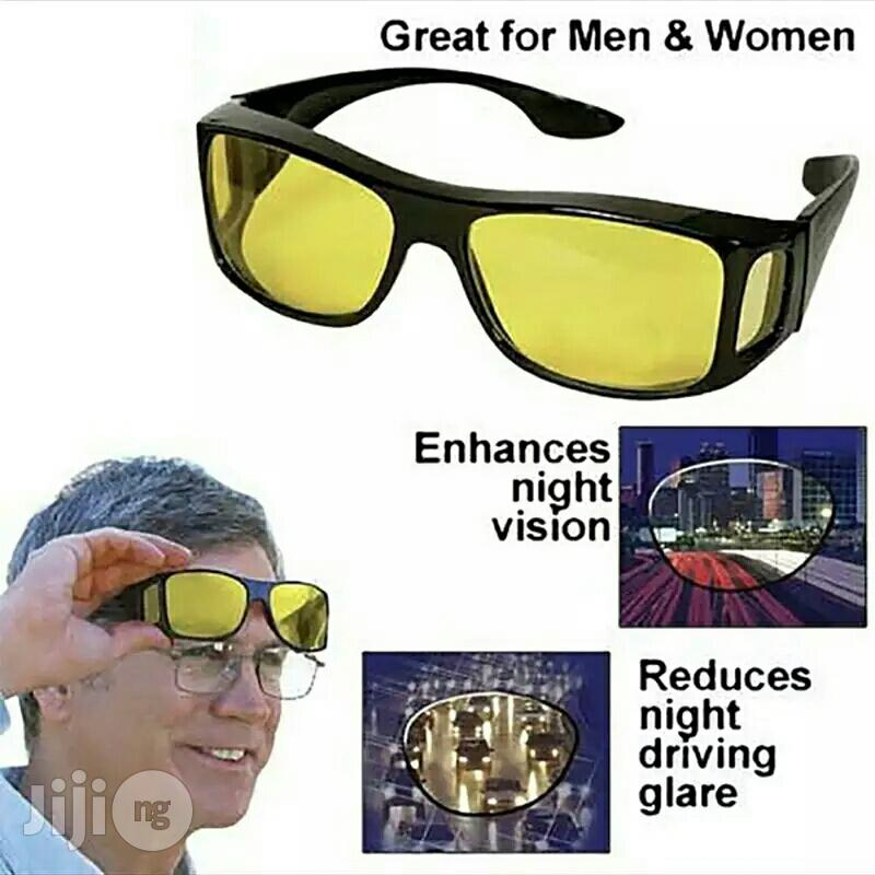 2 Units HD Night Vision Wraparounds UV Glasses. | Clothing Accessories for sale in Apapa, Lagos State, Nigeria