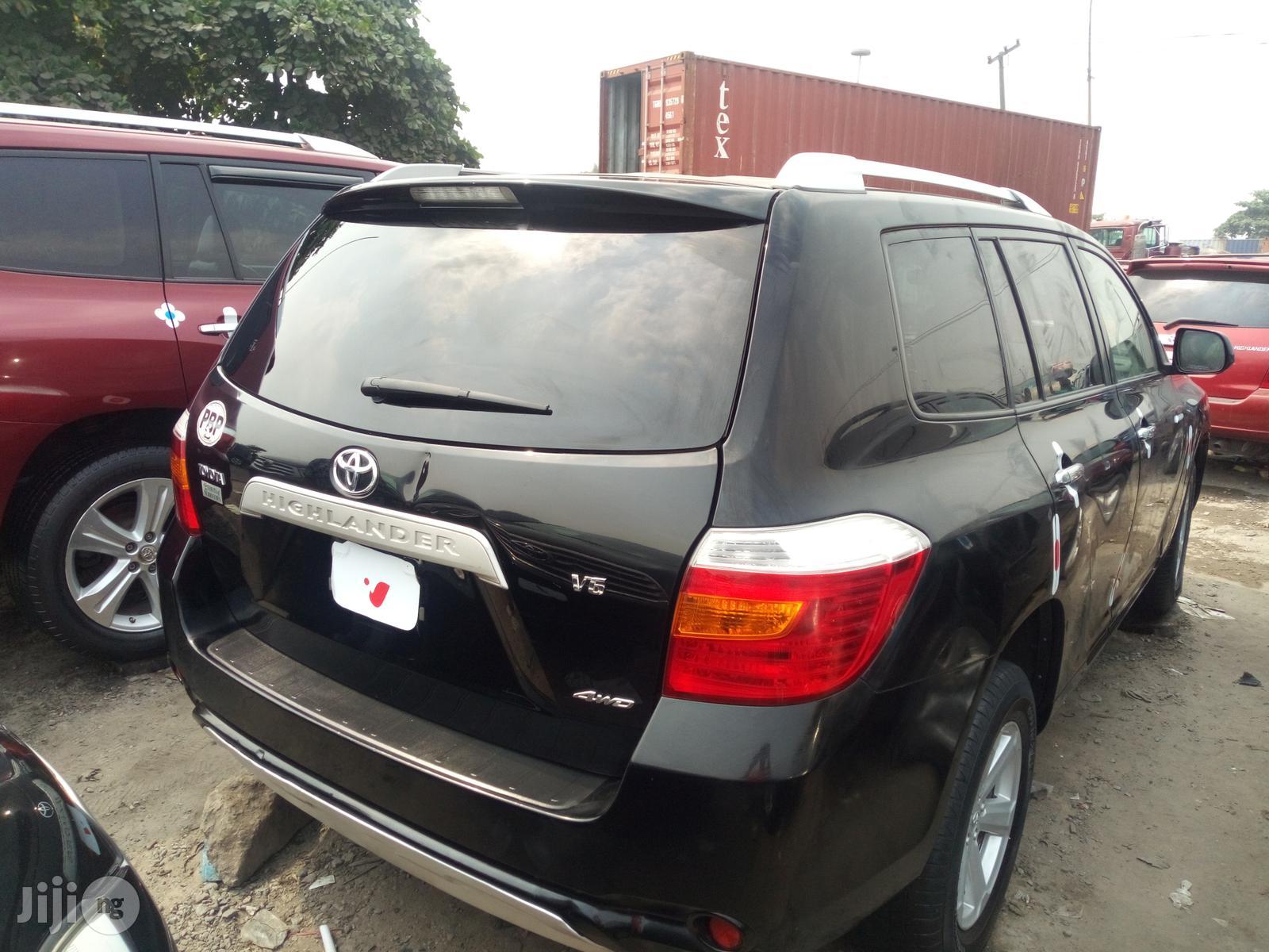 Toyota Highlander 2008 Black | Cars for sale in Apapa, Lagos State, Nigeria