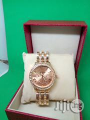 Geneva Ladies Luxury Crystal Wristwatch - Rose Gold | Watches for sale in Lagos State, Ikeja