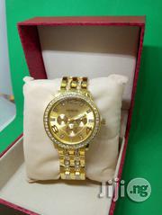 Geneva Ladies Luxury Crystal Wristwatch Gold | Watches for sale in Lagos State, Ikeja