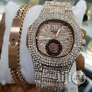 Rose Gold Partek Wrist Watch With Bangle   Jewelry for sale in Lagos State, Surulere