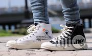 Off White All Star Converse Chuck Taylor White Black Sneakers | Shoes for sale in Lagos State, Lagos Island