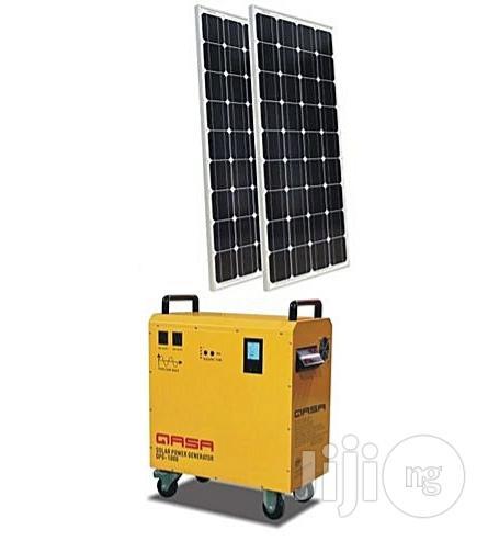QASA AC/DC Mobile Inverter Solar Power Generator. QPG-1000 Hybrid