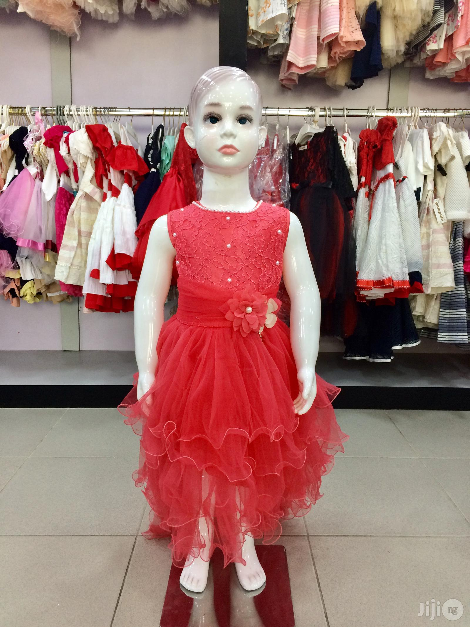 Beautiful Red Girls Party Dress