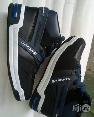 Navy Blue High Top Canvas Sneakers for Boys   Children's Shoes for sale in Lagos State, Lagos Island (Eko)