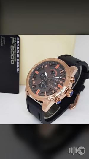 PORSCHE Design Chronograph Genuine Leather Strap Quality Watch | Watches for sale in Lagos State, Surulere