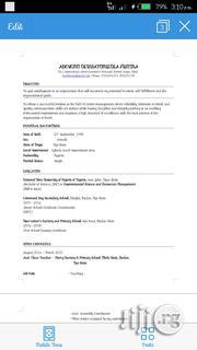 Office Assistant | Office CVs for sale in Ogun State, Ijebu Ode