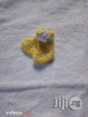 Crocheted Yellow Booties | Children's Shoes for sale in Lagos State, Yaba
