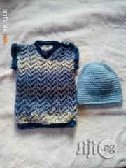 Crocheted Baby Vest With Matching Beanie   Children's Clothing for sale in Lagos State, Yaba