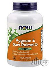 Pygeum Saw Palmetto With Pumpkin Seed Oil. 120 Softgels for Prostrate | Vitamins & Supplements for sale in Lagos State, Alimosho
