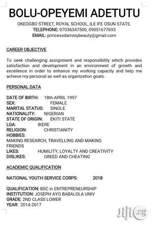 Teaching CV | Management CVs for sale in Edo State, Benin City