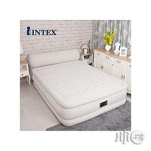 Intex Intex Inflatable Queen Dream Support Air Bed Mattress Airbed Built-in Electric Pump | Furniture for sale in Lagos State, Ikorodu
