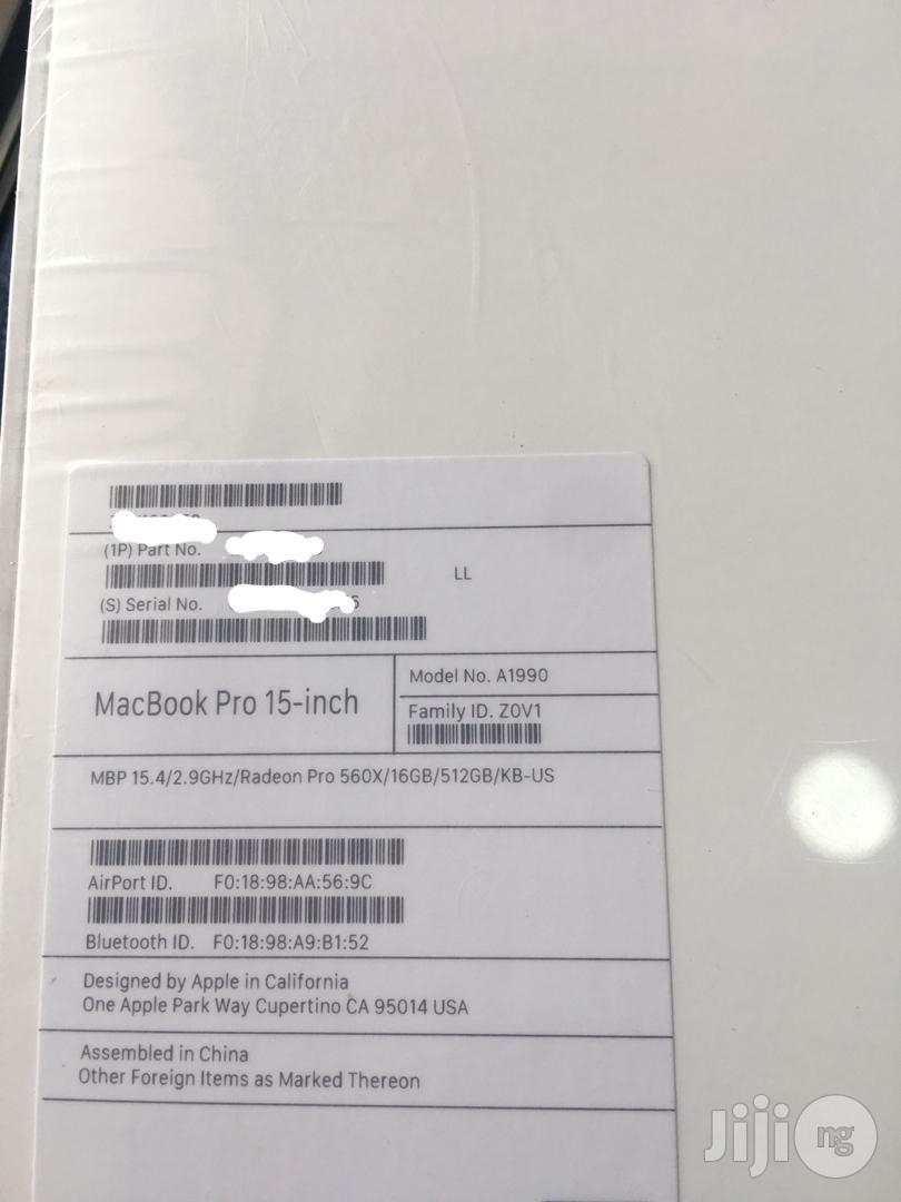 New Laptop Apple MacBook Pro 32GB Intel Core I9 SSD 512GB   Laptops & Computers for sale in Ikeja, Lagos State, Nigeria