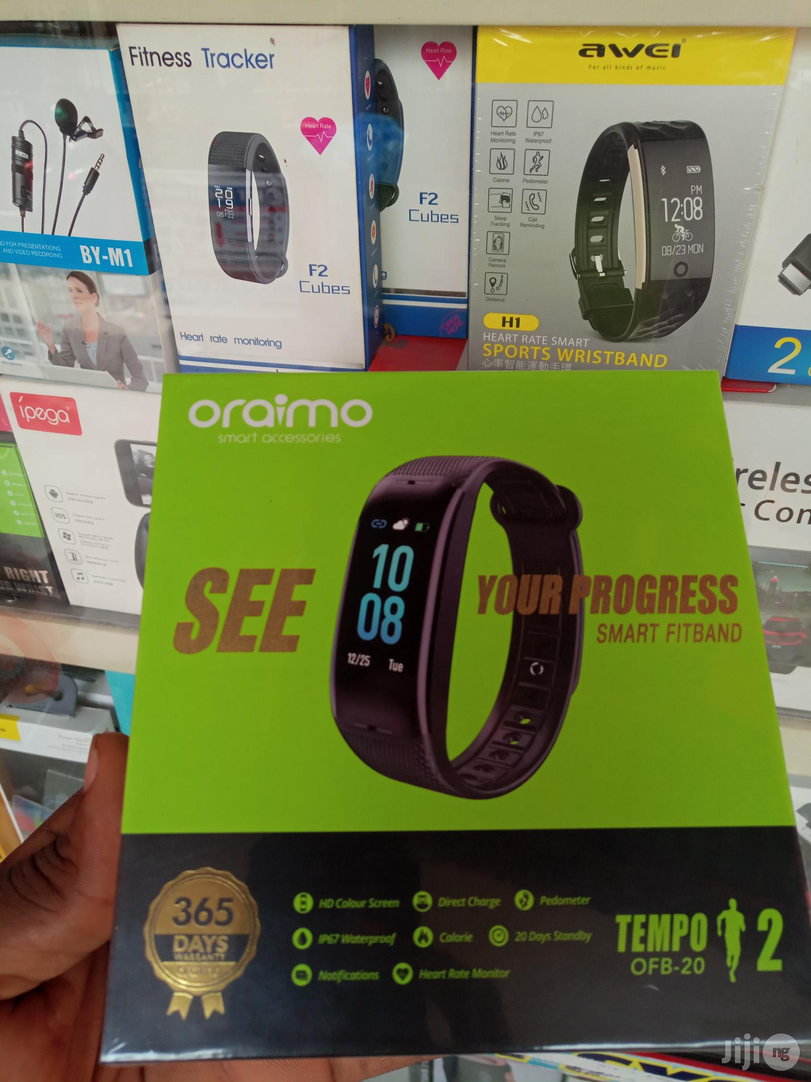 Oraimo Smart Watch Fit Band Tempo 2 OFB-20 | Smart Watches & Trackers for sale in Ikeja, Lagos State, Nigeria
