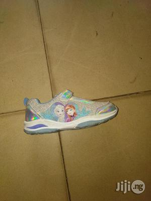 Silver and Blue Frozen Canvas Sneakers for Girls   Children's Shoes for sale in Lagos State, Lagos Island (Eko)