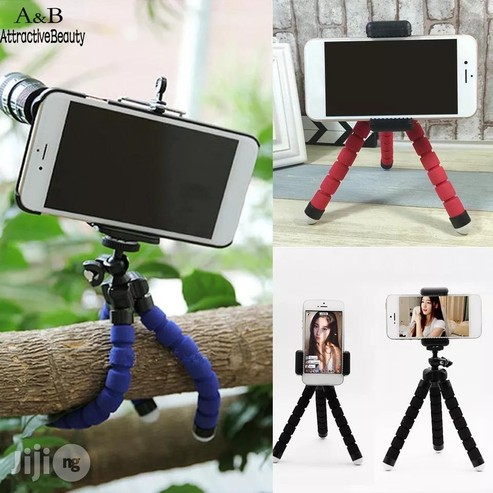 Portable Mini Mobile Phone Tripod Flexible Universal Smartphone Stand   Accessories & Supplies for Electronics for sale in Amuwo-Odofin, Lagos State, Nigeria