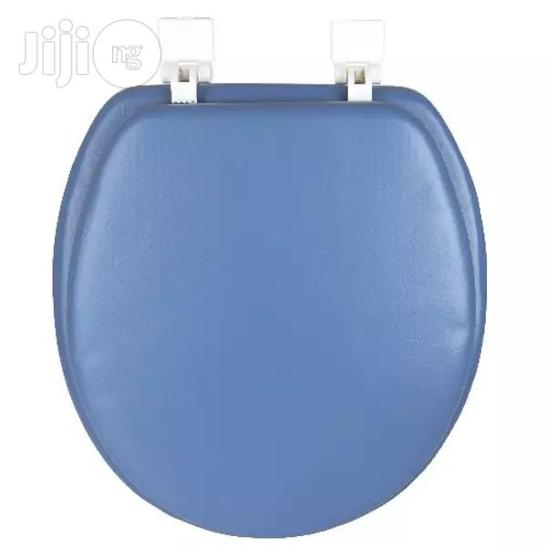 Archive: Standard Soft Toilet Seat With Plastic Hinges - Blue