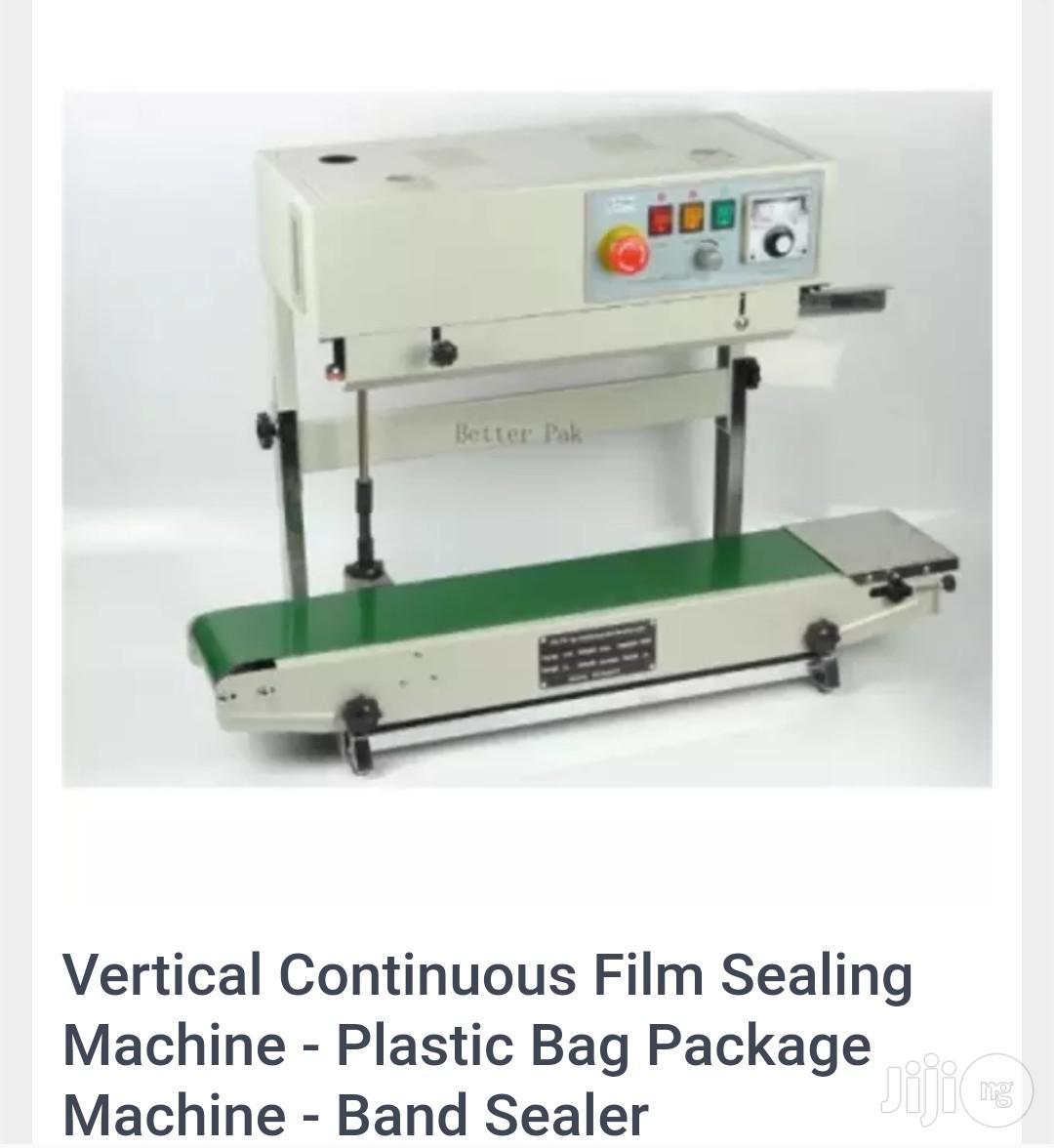 Vertical Continuous Film Sealing Machine Plastic Bag Package Sealer