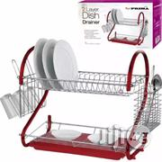 Prima 2-Tier Dish Drainer - Red | Kitchen & Dining for sale in Lagos State