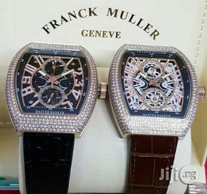 Franck Muller Skeleton Full Ice Rose Gold Leather Strap Watch | Watches for sale in Lagos State, Lagos Island (Eko)