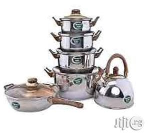 Set of 6 Cooking Pot, Fry Pan and Kettle   Kitchen & Dining for sale in Lagos State, Mushin