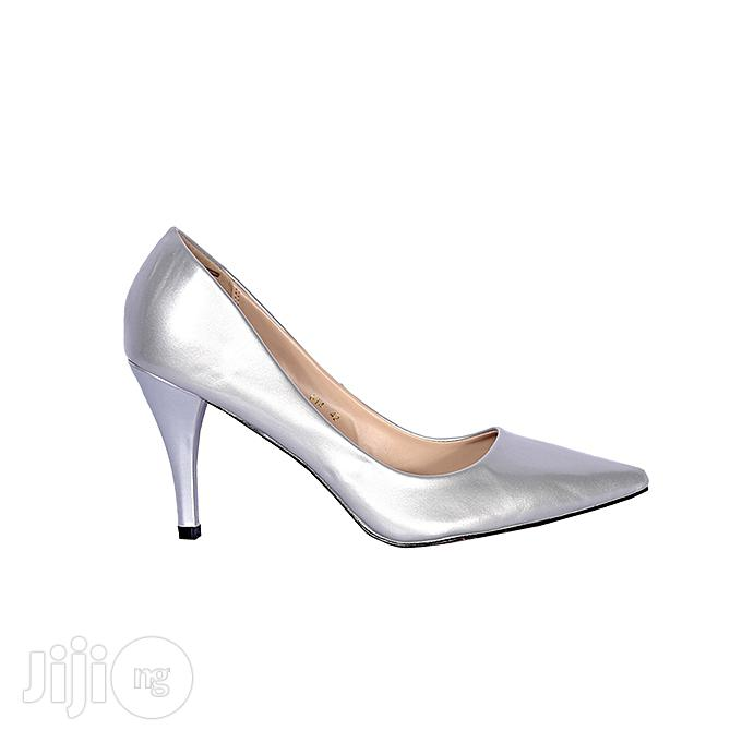 Forever 21 Women High Heel Court Shoe - Silver | Shoes for sale in Ikeja, Lagos State, Nigeria