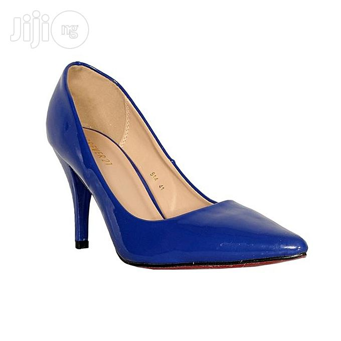 Forever21 Women's Heel Court Shoe - Blue