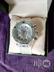 Hublot Mens White Rubber Wristwatch | Watches for sale in Lagos State, Surulere