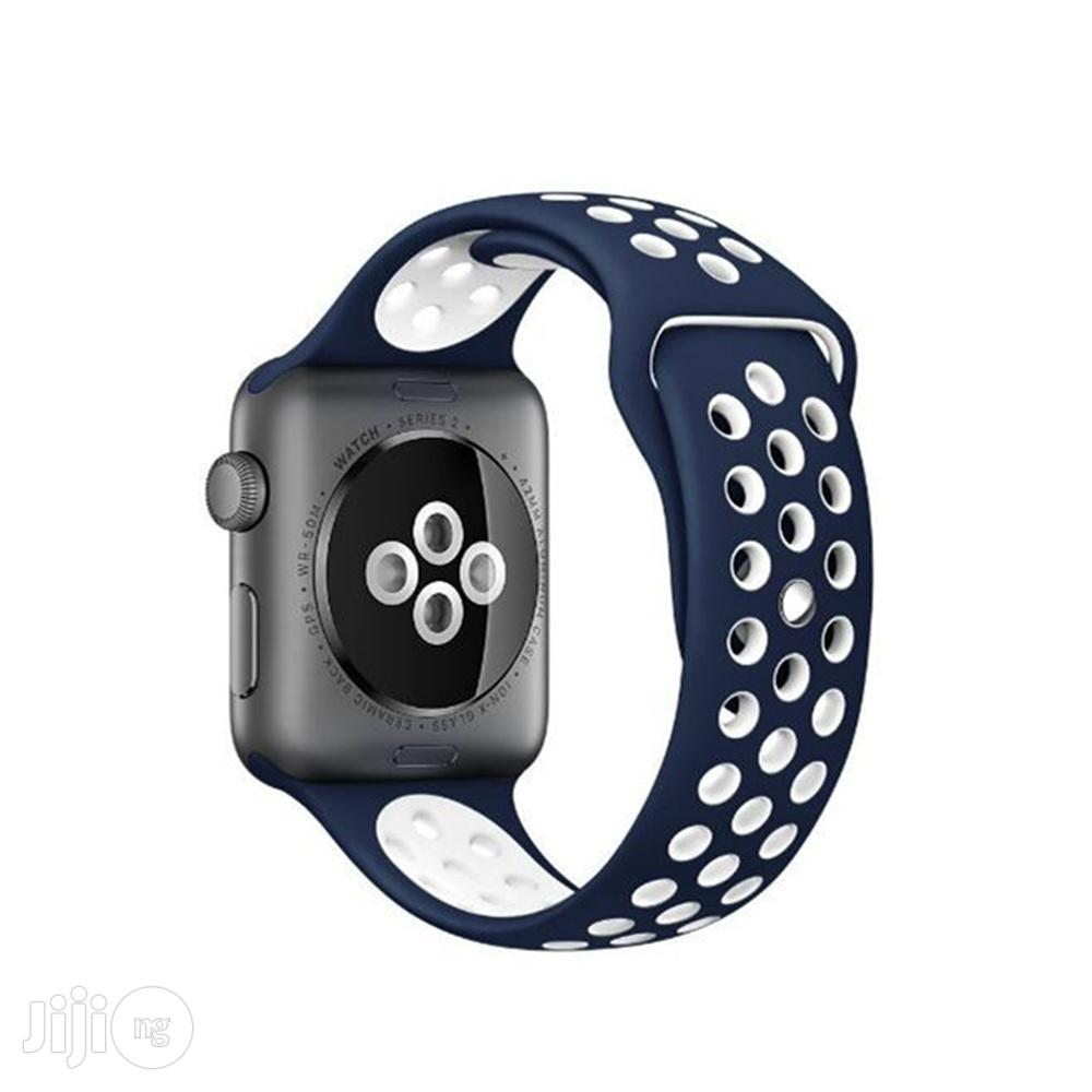 Apple Watch Band 42mm, Soft Silicone Replacement Sports Ban